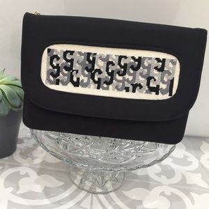 Handbags - Stunning Vintage Black Embroidered Clutch